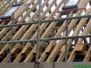 Velux window installation in a roof by W.A. Building Services - Carpenters for Roofs